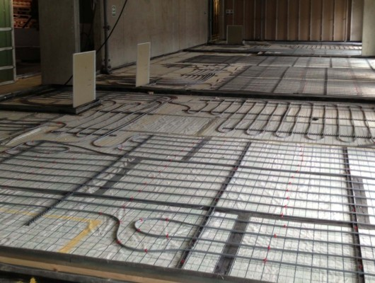 Polypipe system, wet, water, hydronic, underfloor heating