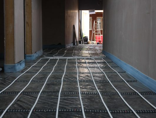 Theale, Berkshire, Underfloor Heating, Wet