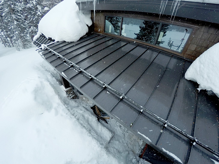 Ice And Snow Melting In Roof And Gutters Gaia Climate